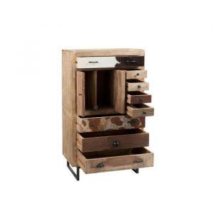 armario natural madera y cuero 80 x 42 135 kd boston 1