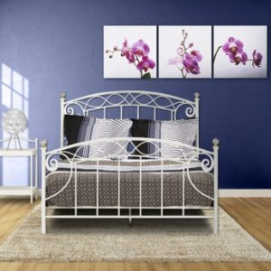 Cama MARGOT - 140x190 cm - Blanco