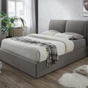 Cama con canapé abatible ALCEO Tela gris claro 180x200cm