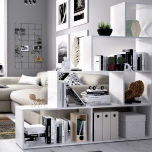 Estantería RAJA - 6 estantes - Color: blanco