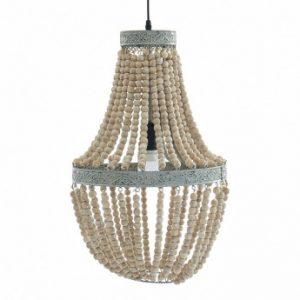 Lámpara de madera estilo charme francés CAPTURE - D. 35cm - Natural