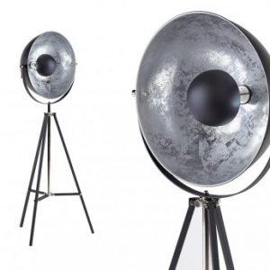 Lámpara de pie MOVIE - Altura 166 cm - Color plateado de la marca INSIDE ART