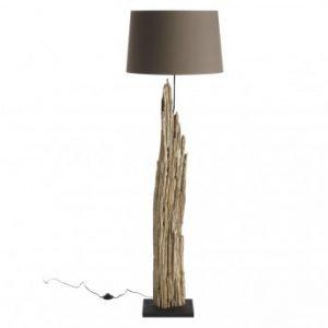 Lámpara de pie VALGA de madera de recuperación - Altura 175 cm