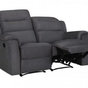 Sofá de 2 plazas relax de microfibra SIMONO - Antracita