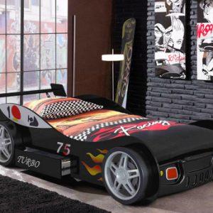Cama coche RUNNER con cajón - 90x200 cm - Negro