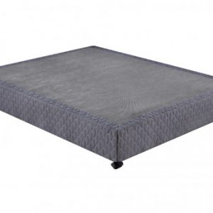 Base tapizada UNIVERSEL de DREAMEA PLAY - 140x190 cm - Gris antracita