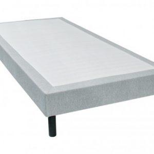 Base tapizada PARNASSE de DREAMEA - Gris jaspeado - 90 x 190 cm