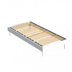 Somier de láminas MICHIGAN de DREAMEA - blanco - 90 x 190 cm